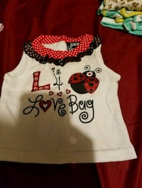 white and red Minnie Mouse print tank top Gautier, 39553