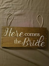 Here Comes the Bride - Wood Sign