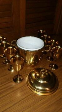 brass-colored candle holder 594 mi