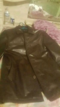 black leather zip-up jacket McAllen, 78501