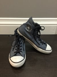 EUC Youth Girl's Blue Jean High top Zip-up Converse