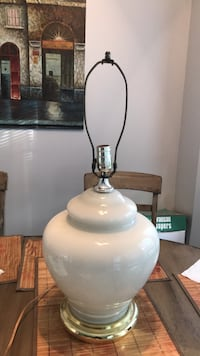 White ceramic base table lamp Franklin, 37069