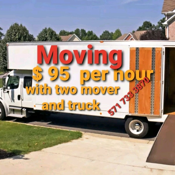 95 per hour with two mover and truck  39e62cee-6fe5-4aae-b6fe-c1e783a5730b