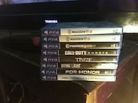 assorted Sony PS4 game cases Beloit, 53511