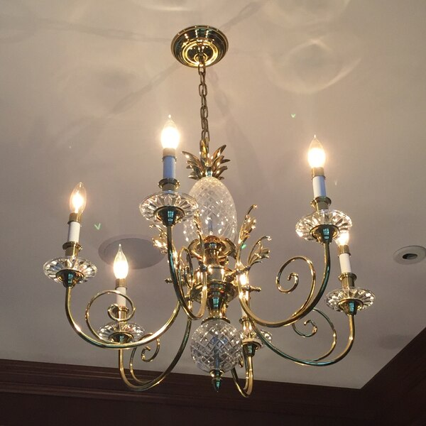 Quoizel Pineapple And Brass Chandelier