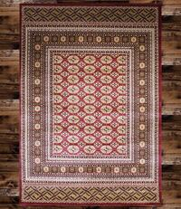 Brand new bokhara design area rug size 5x8 nice red carpet Persian