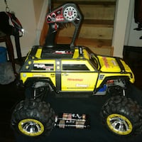yellow and black monster truck RC toy