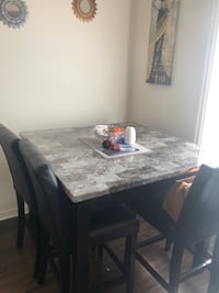 Grey Marbled Dining Table
