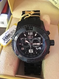 Invicta 6713 Men's Sea Spider Chrono Black Ip Ss And Dial Black Ip Ss Watch Rosemead, 91776