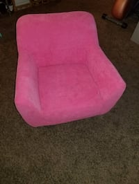 pink fabric sofa chair with throw pillow Hawthorne, 90250