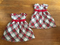 Gymboree Holiday Christmas dresses sz 2T and 3T