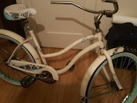 black and white beach cruiser bicycle Los Angeles, 90047