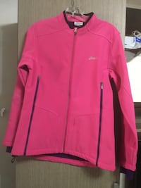 giacca rosa zip-up