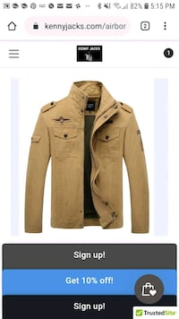 Kj designer mens jacket