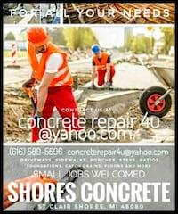 Concrete repair of all kinds.