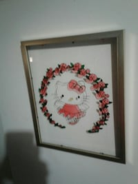 Hello kitty stained glass art