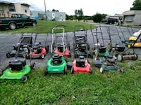 assorted color of push mower 55 km