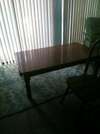 rectangular brown wooden  table and 2 chairs North Myrtle Beach, 29582