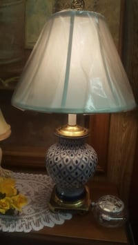 Blue and white porcelain & brass Lamp Sumter, 29154