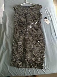 SD collection size 6 grey sequin cocktail dress Haines City, 33844