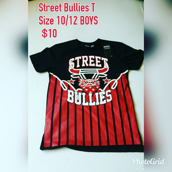 street bullies black-and-red shirt