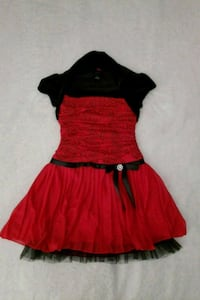 Childs red and black dress Charlotte, 28212