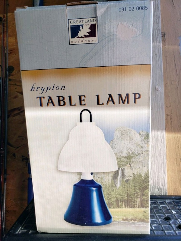 Camping table lamp
