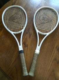 Pair of Retro Tennis Rackets by Dunlop -McEnroe SL Indianapolis, 46201