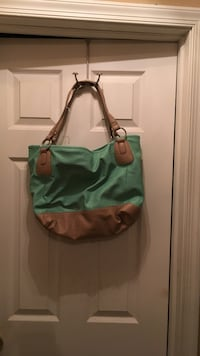 green and brown leather tote bag Easton, 18040
