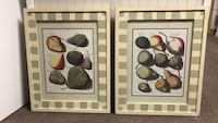 Pear Prints in hand painted glass frames Hoffman Estates, 60169