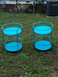 two blue metal candle holders Newport News, 23607