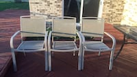 3 Beautiful White  Chairs Sterling Heights, 48310