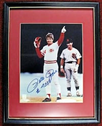 Autographed Pete Rose Photograph Norfolk