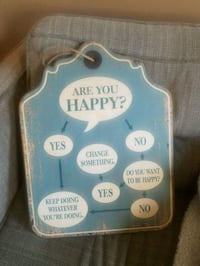 Are You Happy Flow Chart Wall Sign  Hagerstown, 21740