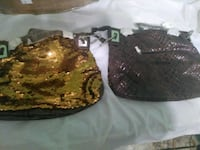 2 gold shingle brown purses Tampa, 33615