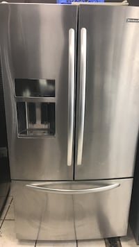 stainless steel 3-door french refrigerator Clifton, 07011