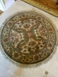 round brown and white floral ceramic plate Vaughan, L4L 8Y4