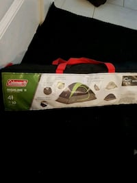 gray and green Coleman highline II dome tent duffel bag Abbotsford, V4X 1L9