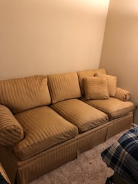 2 Brown/gold designer couches Fort Myers, 33912