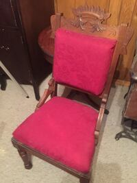 Antique wooden carved side chair Sterling