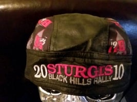 NEW Sturgis Rally 2010 leather women's Doo rag