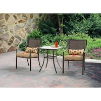 Mainstays Alexandra Square 3-Piece Outdoor Bistro Set, Seats 2, Red, SKU # 51166 Tustin