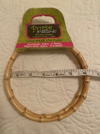 "1 Pair 6"" Bamboo Handles for bag/Purse Henderson, 89012"