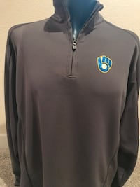 Brewers Cutter & Buck Quarter Zip Pullover, Size XL Milwaukee