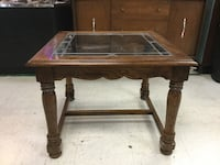 Wooden lead glass end table Mount Pleasant, 29464