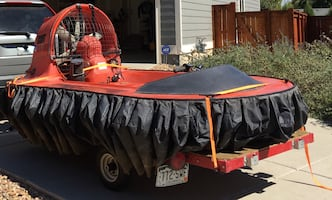 SCAT Hovercraft with Trailer - The ULTIMATE ATV