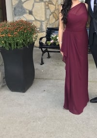 Bill Levkoff bridesmaid dress In the colour Wine burgundy - style 1203 one shoulder gown Toronto, M9C 1B8