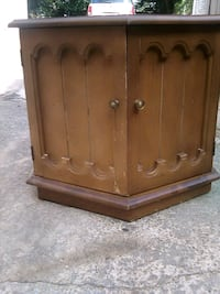 Vintage Solid Wood end table with storage  Montgomery