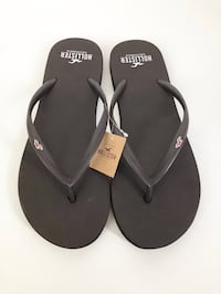HOLLISTER Brown Flip Flops Sandals Women's Size Medium NEW WITH TAGS
