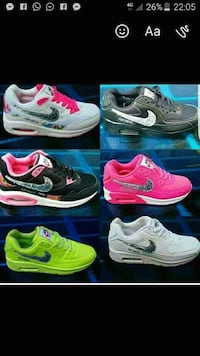 sei screenshot multiplo di collage di scarpe Nike Air Max